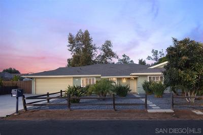 Escondido Single Family Home For Sale: 846 Monticello