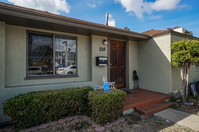 Chula Vista Single Family Home For Sale: 234 Fourth Avenue