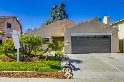 San Diego Single Family Home For Sale: 7984 Hillandale Drive