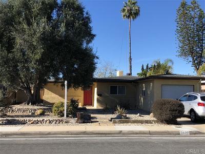 San Diego Single Family Home For Sale: 2836 Burgener Blvd