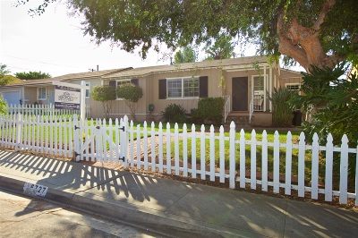 San Diego Single Family Home For Sale: 6727 Mohawk Dr