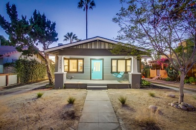 San Diego Single Family Home For Sale: 3228 33rd St