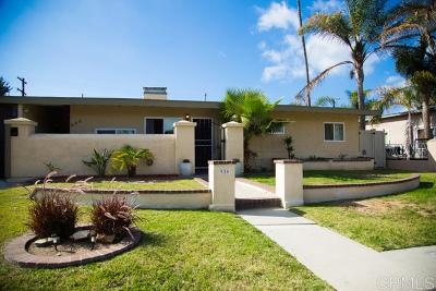 Chula Vista Single Family Home For Sale: 920 Evans Ave
