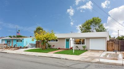 San Diego Single Family Home For Sale: 3540 Hatteras Ave.