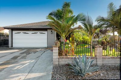 San Diego Single Family Home For Sale: 7127 Latrobe Cir