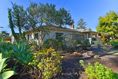 La Jolla Single Family Home For Sale: 9454 Poole St