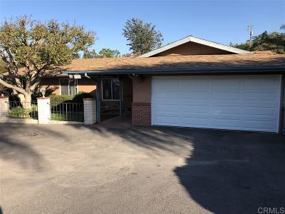 Vista Single Family Home For Sale: 1203 Eucalyptus
