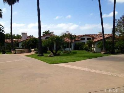 Rancho Santa Fe Rental For Rent: 7151 Rancho La Cima Dr.