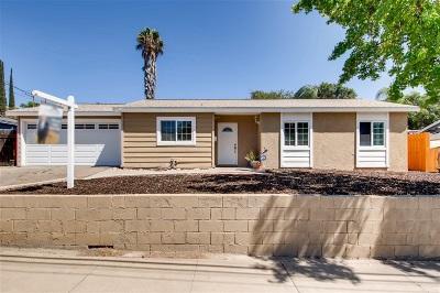 Santee Single Family Home For Sale: 9599 Halberns Blvd