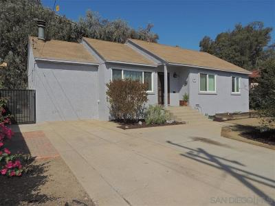 La Mesa Single Family Home For Sale: 3432 Trophy Dr