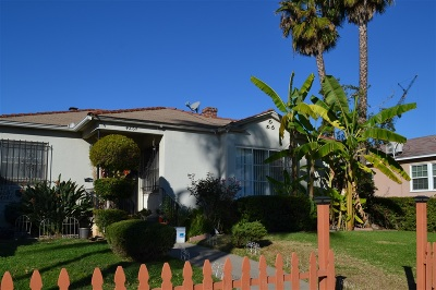 San Diego Multi Family 2-4 For Sale: 4262-66 Chamoune Ave