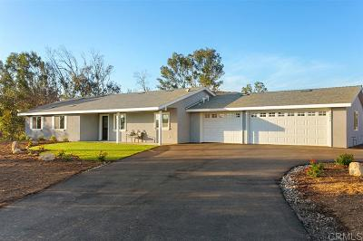 Valley Center Single Family Home For Sale: 28946 Aerie Rd