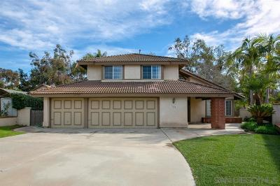 San Marcos Single Family Home Contingent: 3133 Mooncrest Ct