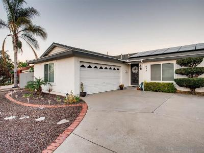 Single Family Home For Sale: 650 Mariposa Circle
