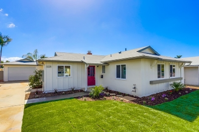 San Diego Single Family Home For Sale: 3225 Jappa Ave