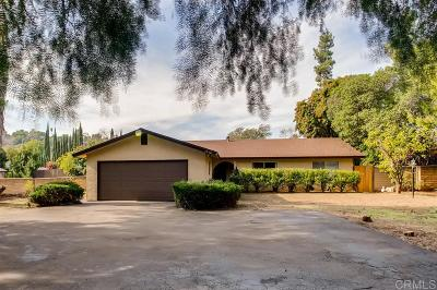 Single Family Home For Sale: 3920 Avocado Blvd