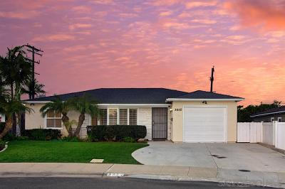 Single Family Home For Sale: 3652 Loma Way