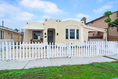 San Diego Single Family Home For Sale: 4616 36th Street