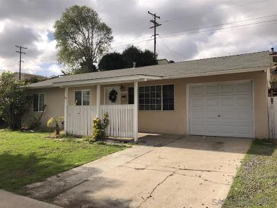 San Diego Single Family Home For Sale: 412 Billow Dr