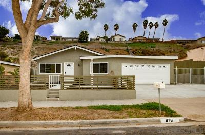 Single Family Home For Sale: 676 Roja Street