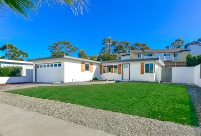 San Diego Single Family Home For Sale: 3735 Budd St