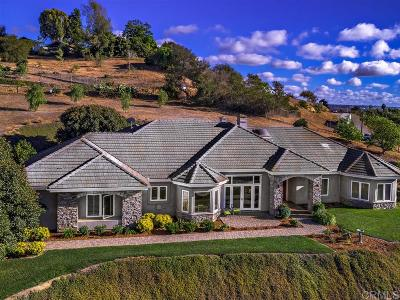 Bonsall CA Single Family Home For Sale: $1,150,000
