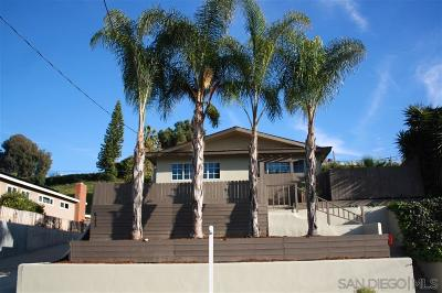 La Mesa Single Family Home For Sale: 6125 Avenorra