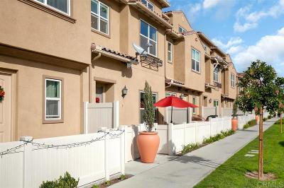 Chula Vista Townhouse For Sale: 1415 Santa Diana Rd #3