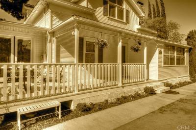 Fallbrook Single Family Home For Sale: 1151 Morro Road