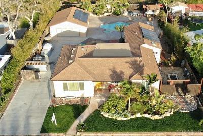 el cajon Single Family Home For Sale: 447 Hawthorne Ave