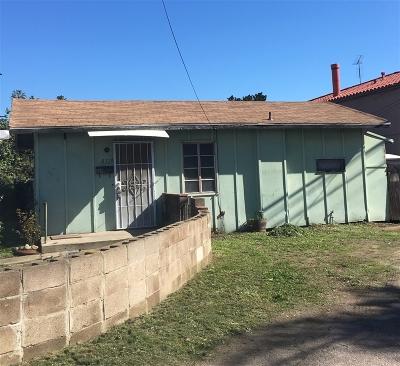La Mesa Single Family Home For Sale: 8325 Fresno