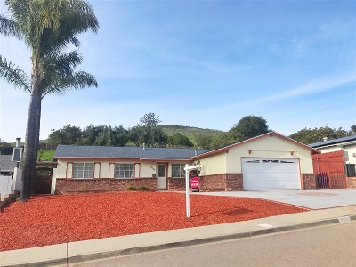 Santee Single Family Home For Sale: 9634 Cecilwood Dr