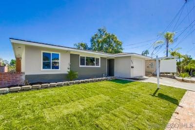 San Diego Single Family Home For Sale: 5139 Ewing St