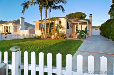 La Jolla Single Family Home For Sale: 5661 Beaumont Ave