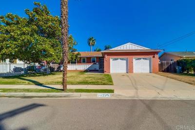 Chula Vista Single Family Home For Sale: 743 Cedar Ave