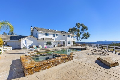 San Diego County Single Family Home For Sale: 19701 Ramona Trails Drive