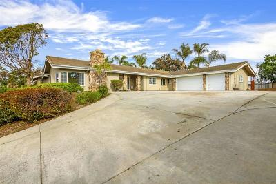 Escondido Single Family Home For Sale: 10385 Eagle Lake Drive