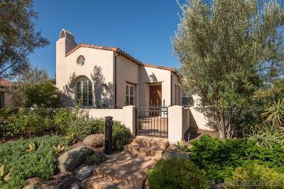 Santaluz Single Family Home For Sale: 8126 Santaluz Village Green N.
