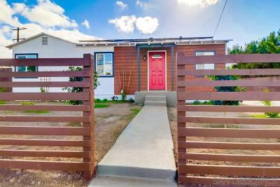 San Diego Single Family Home For Sale: 5285 Groveland Drive