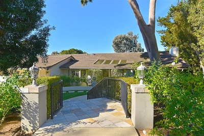 La Jolla Single Family Home For Sale: 2915 Woodford