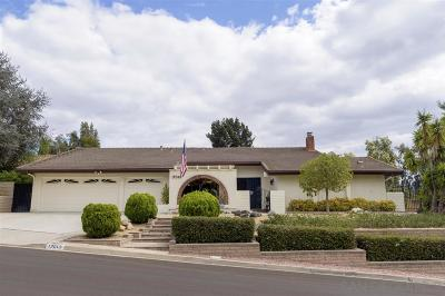 Poway Single Family Home Sold: 17049 Cloudcroft Drive