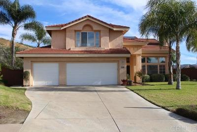 el cajon Single Family Home For Sale: 2598 Castellon Terrace