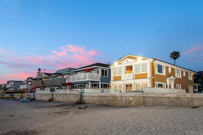 Del Mar Single Family Home For Sale: 1802 Ocean Front
