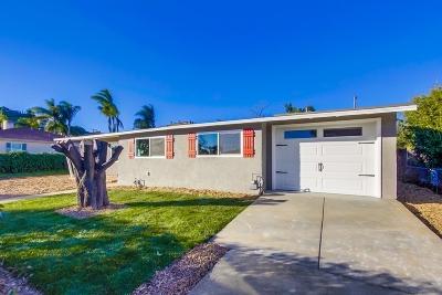 el cajon Single Family Home For Sale: 1248 El Rey Ave