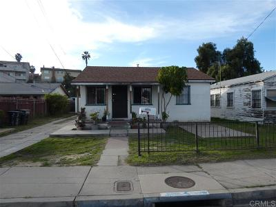 San Diego Single Family Home For Sale: 2036 S 42nd St.