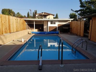 La Mesa Single Family Home Contingent: 6081 Nancy Dr