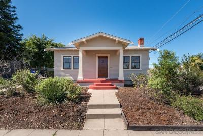 San Diego Single Family Home For Sale: 3592 Bancroft St