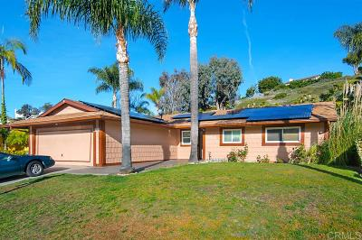 Oceanside Single Family Home For Sale: 3786 Cameo Dr.