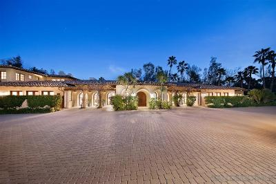 Rancho Santa Fe Single Family Home For Sale: 16135 Via Del Alba