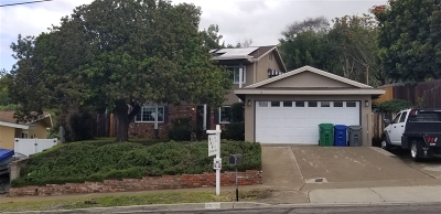 el cajon Single Family Home For Sale: 1536 Savin Drive